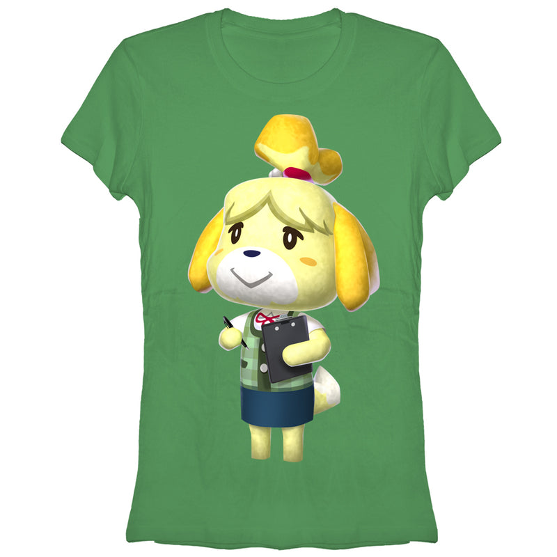 Nintendo Junior's Animal Crossing Isabelle  T-Shirt  Kelly Green  S