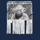 Star Wars Men's Yoda Words of Wisdom  T-Shirt  Navy Heather
