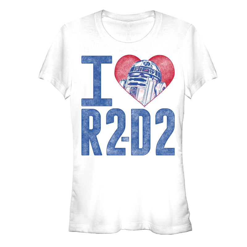 Star Wars Junior's I Love R2-D2  T-Shirt  White