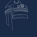 Star Wars Men's R2-D2 Outline  T-Shirt  Navy Heather