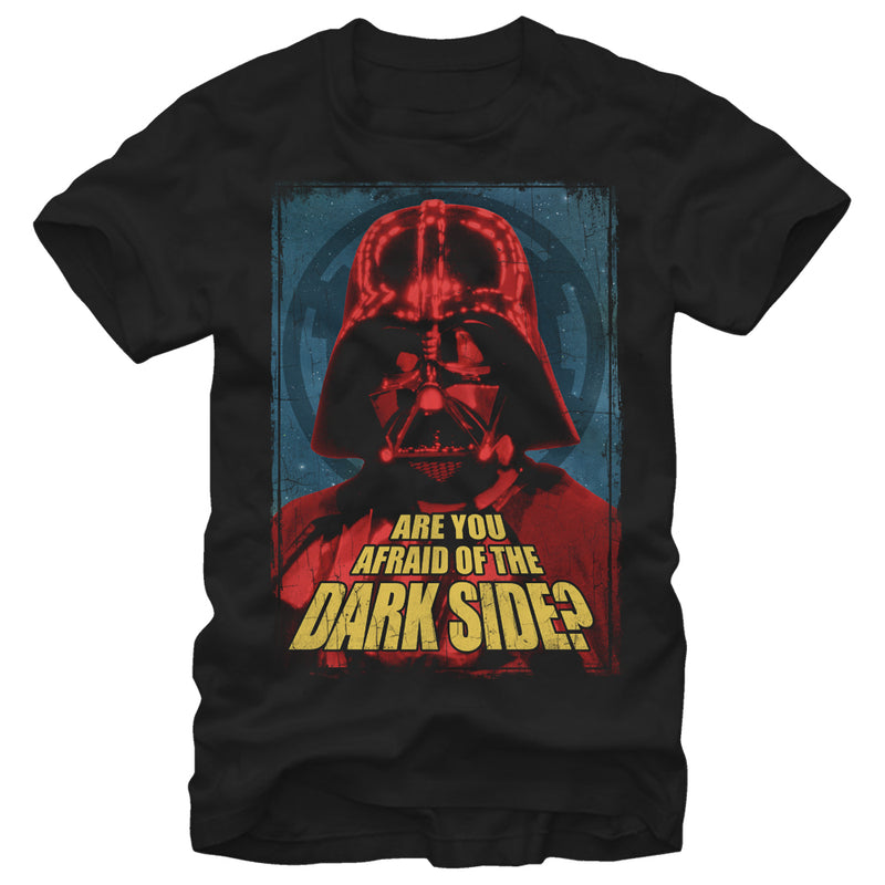 Star Wars Are You Afraid of the Dark Side Mens Graphic T Shirt
