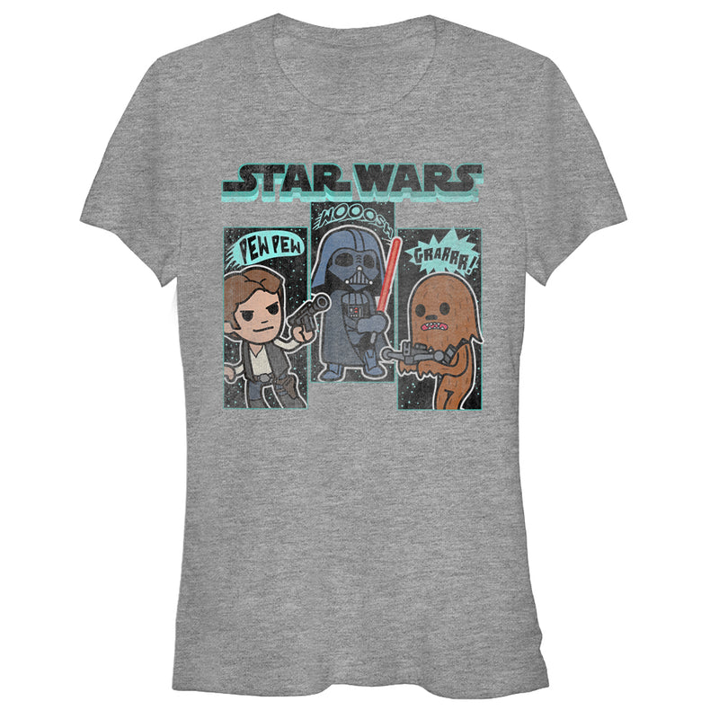 Star Wars Junior's Cartoon Sounds  T-Shirt  Athletic Heather  2XL