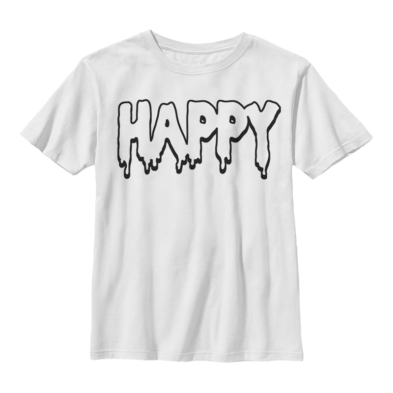 Lost Gods Boy's Happy  T-Shirt  White  M