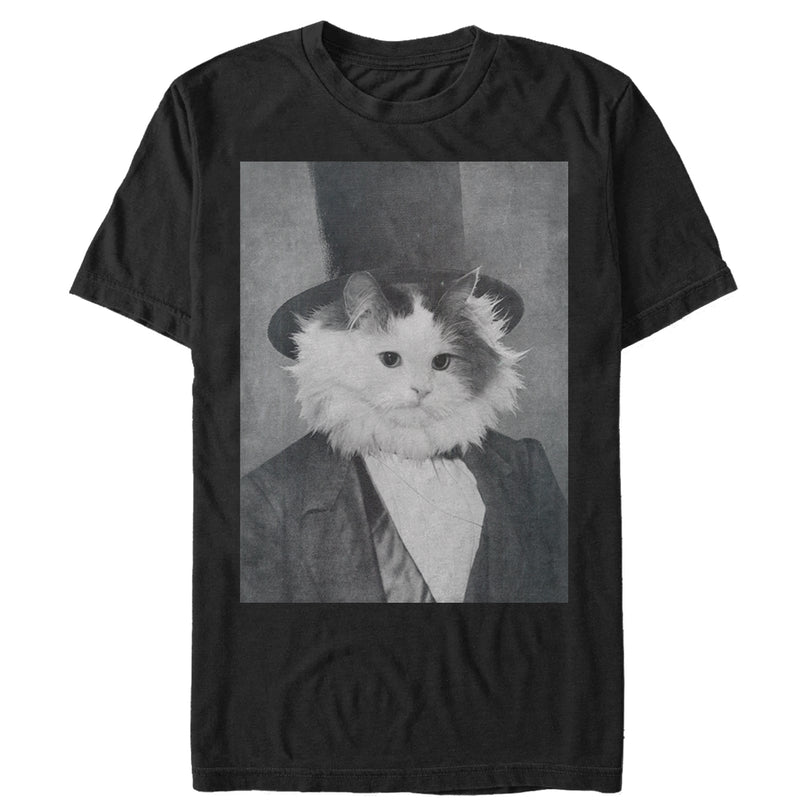 Lost Gods Men's Cat Lincoln  T-Shirt  Black  M