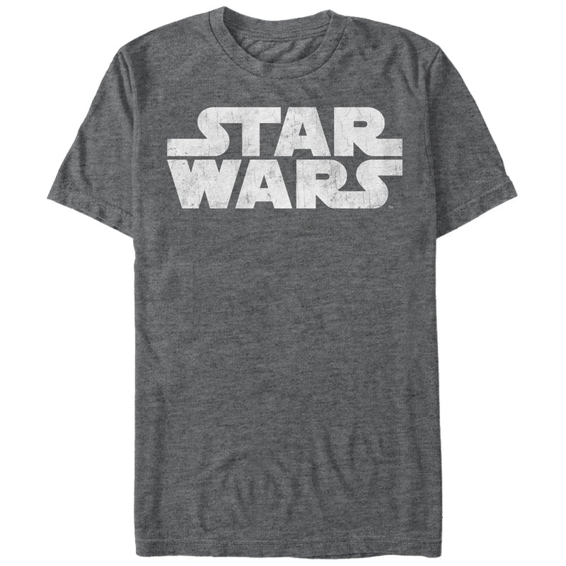 Star Wars Men's Simple Logo  T-Shirt  Charcoal Heather  4XL