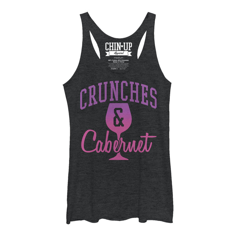 CHIN UP Crunches and Cabernet Womens Graphic Racerback Tank