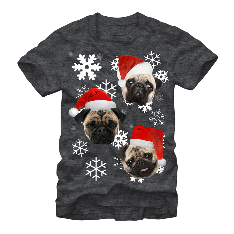 Lost Gods Pug Ugly Christmas Sweater Mens Graphic T Shirt