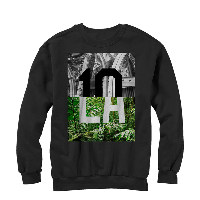 Lost Gods Men's LA Contrast  Sweatshirt  Black  S