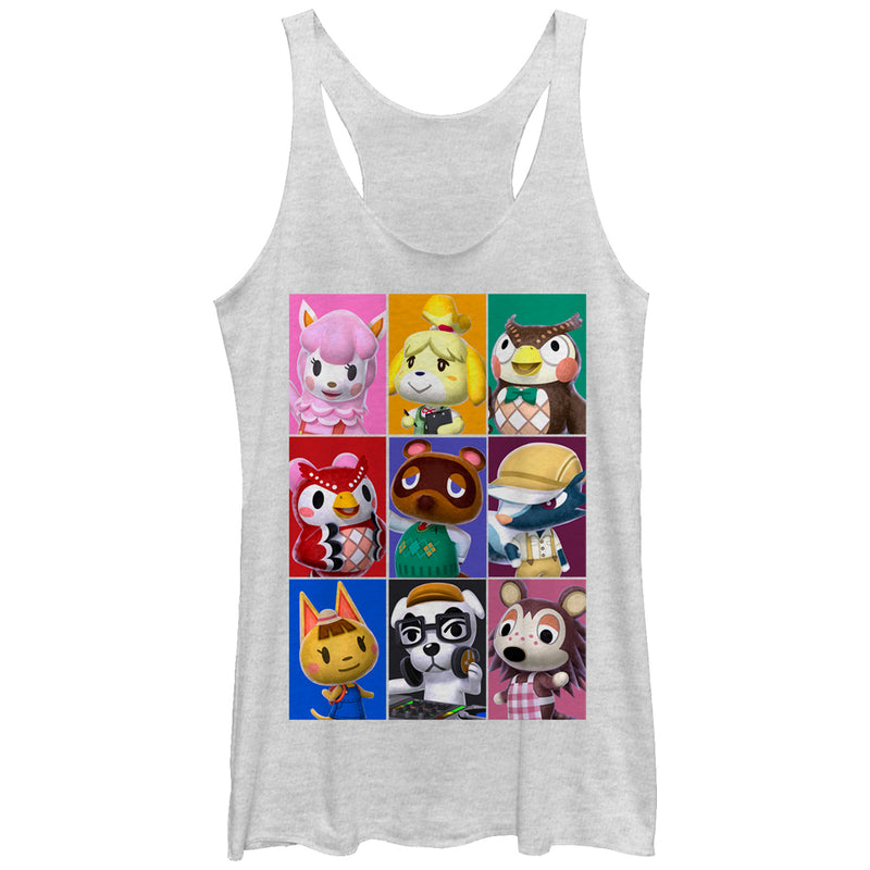 Nintendo Animal Crossing Characters Womens Graphic Racerback Tank
