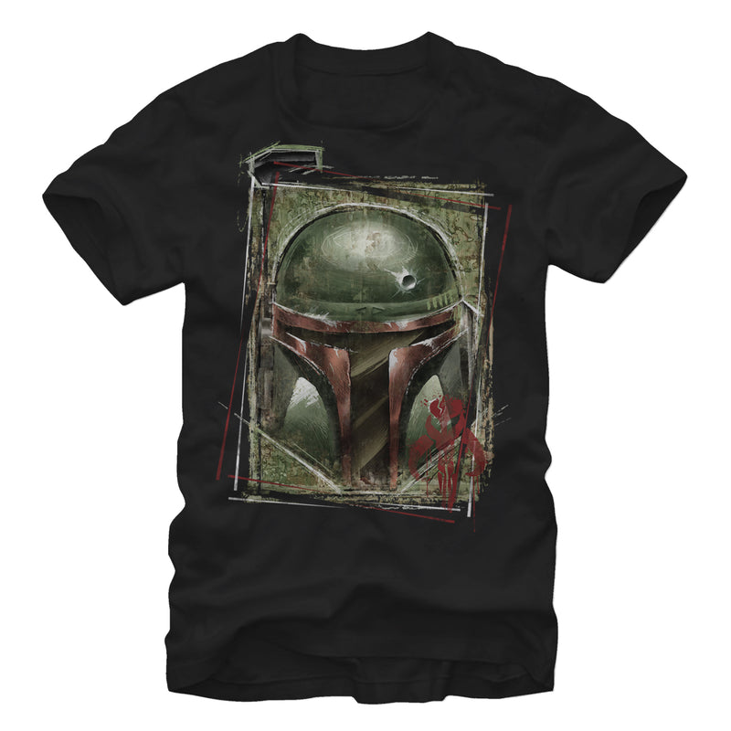 Star Wars Men's Boba Fett Mandalorian Warrior  T-Shirt  Black  M
