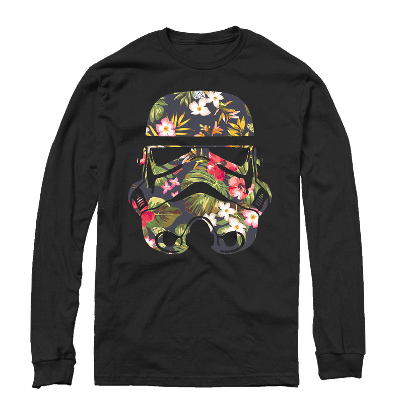 Star Wars Men's Tropical Stormtrooper  Long Sleeve Shirt  Black  M