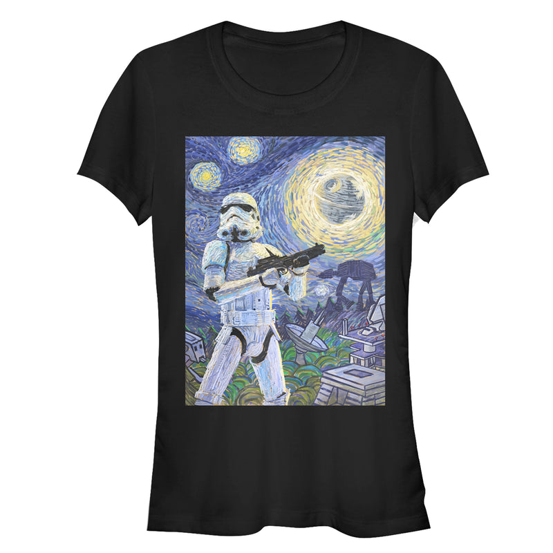 Star Wars Stormtrooper Starry Night Juniors Graphic T Shirt