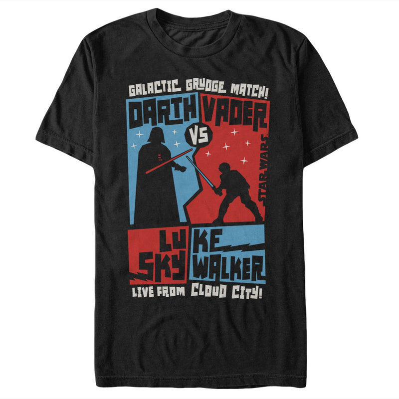 Star Wars Vader and Luke Grudge Match Mens Graphic T Shirt