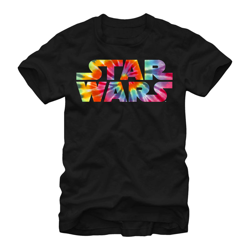 Star Wars Men's Tie-Dye Logo  T-Shirt  Black  L