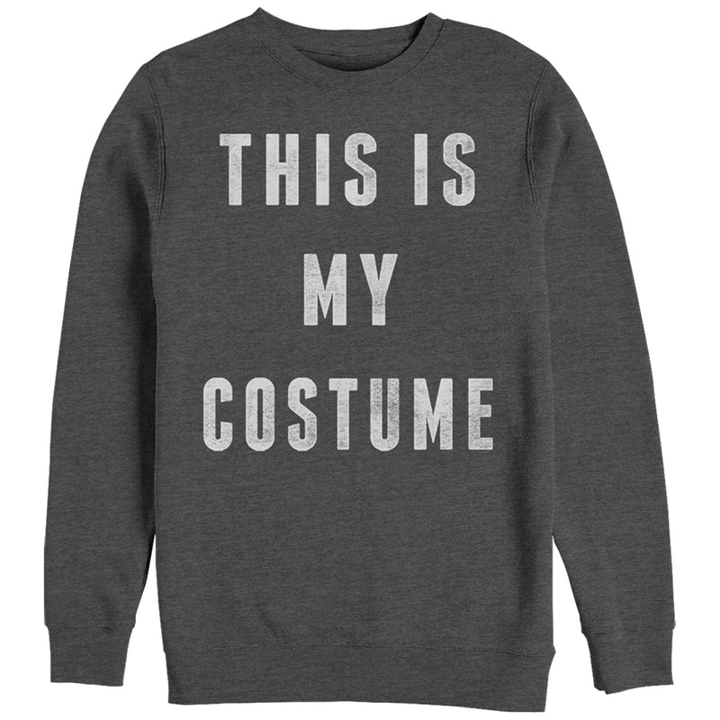 CHIN UP Women's Halloween My Costume  Sweatshirt  Charcoal Heather  XL