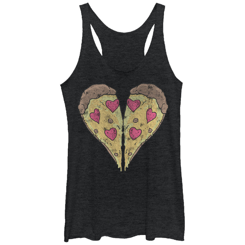 Lost Gods Piece of Pizza Heart Womens Graphic Racerback Tank