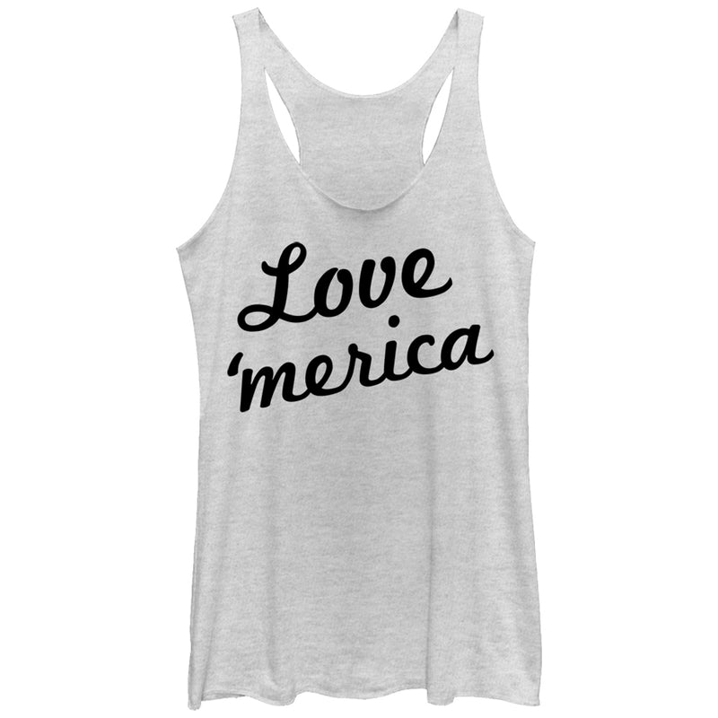 Lost Gods Love Merica Womens Graphic Racerback Tank