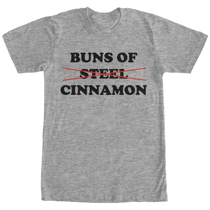 CHIN UP Women's Buns of Cinnamon  Boyfriend Tee  Athletic Heather  S