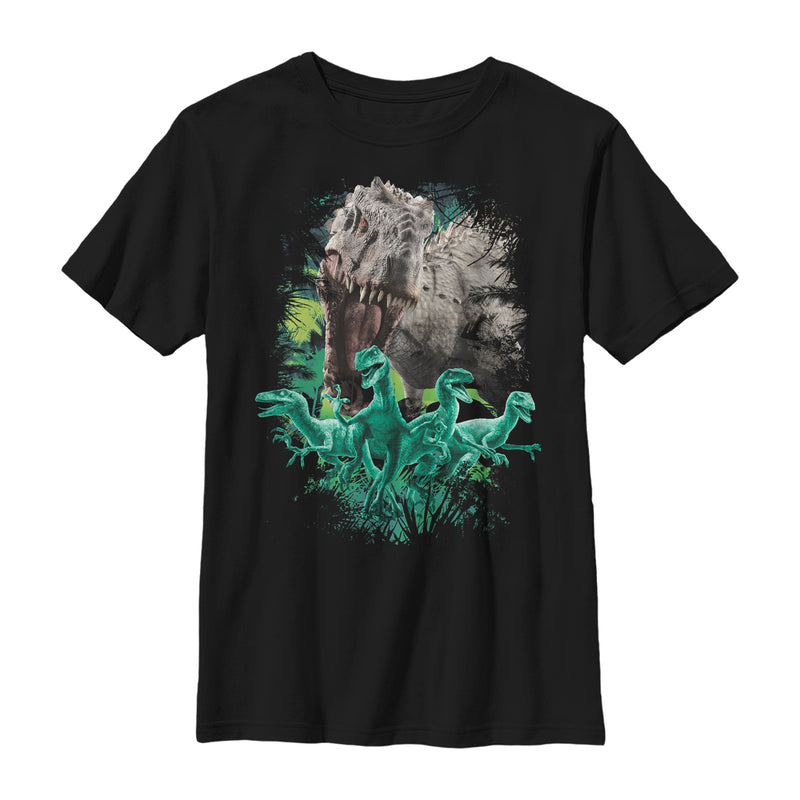 Jurassic World Boy's Coming For You Dino  T-Shirt  Black  XS