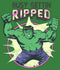 Marvel Women's Hulk Getting Ripped  Racerback Tank Top  Envy Green