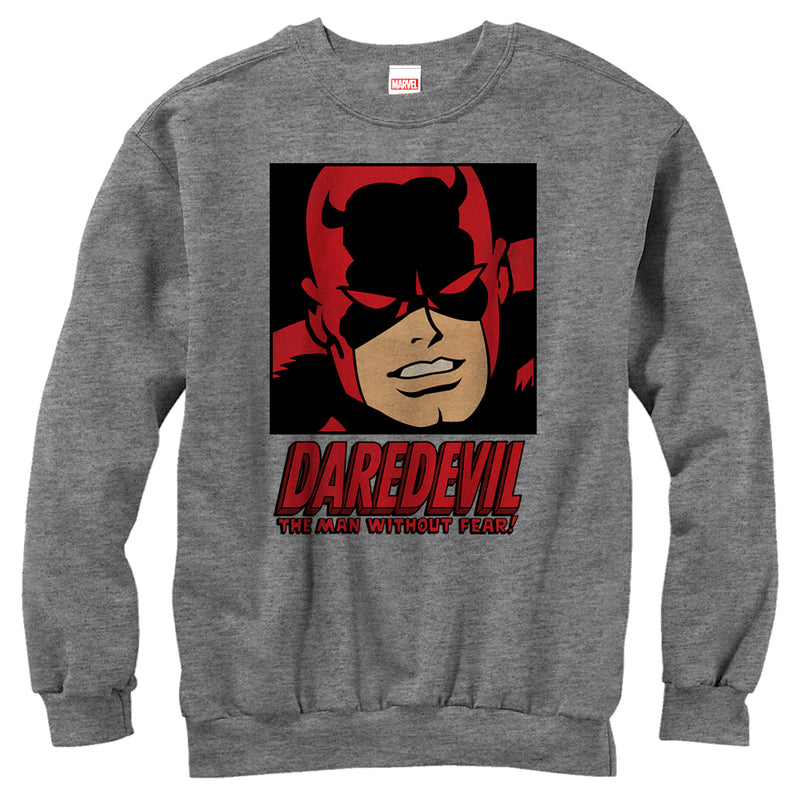 Marvel Men's Daredevil Man Without Fear  Sweatshirt  Athletic Heather  M