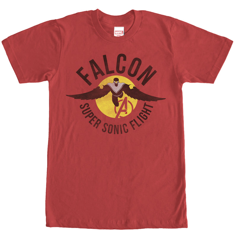 Marvel Falcon Super Sonic Flight Mens Graphic T Shirt