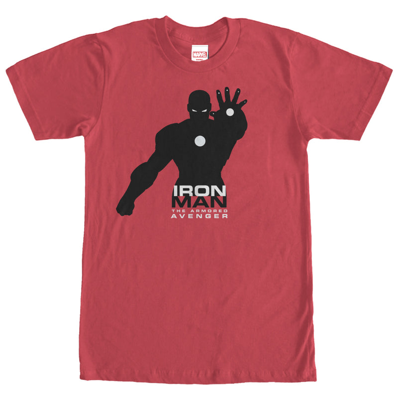 Marvel Iron Man Silhouette Mens Graphic T Shirt