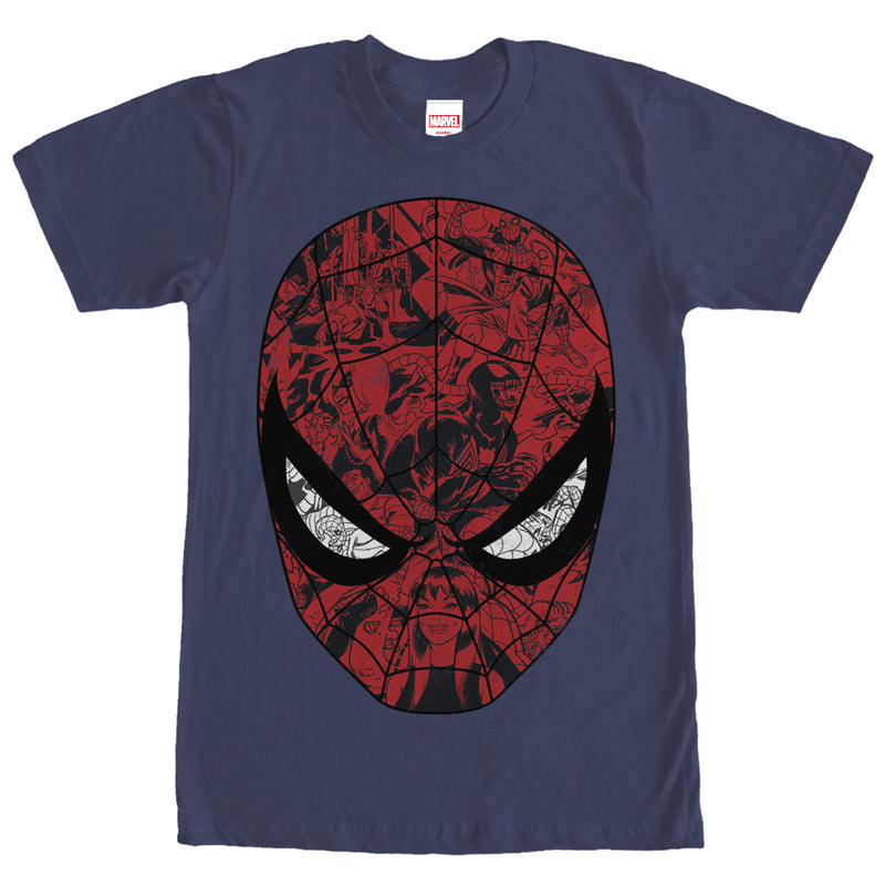 Marvel Spider-Man Mask Mens Graphic T Shirt