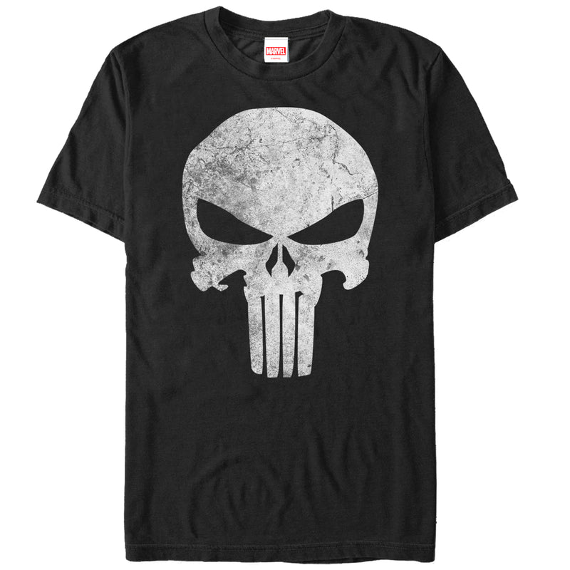 Marvel Men's Punisher Retro Skull Symbol  T-Shirt  Black  S