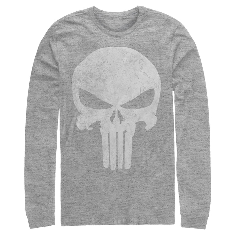 Marvel Punisher Retro Skull Symbol Mens Graphic Long Sleeve Shirt