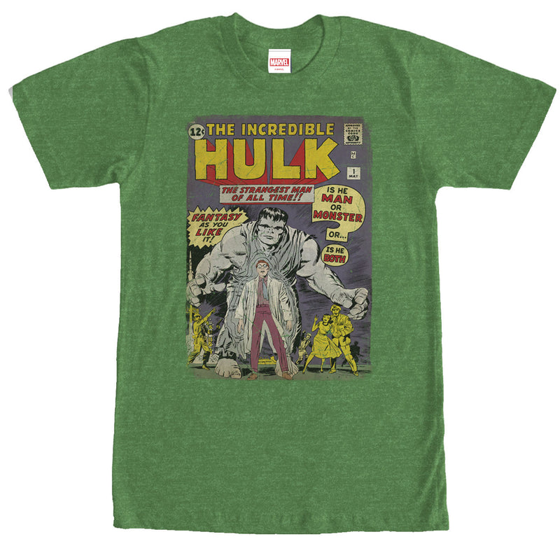 Marvel Hulk Comic Book Cover Print Mens Graphic T Shirt