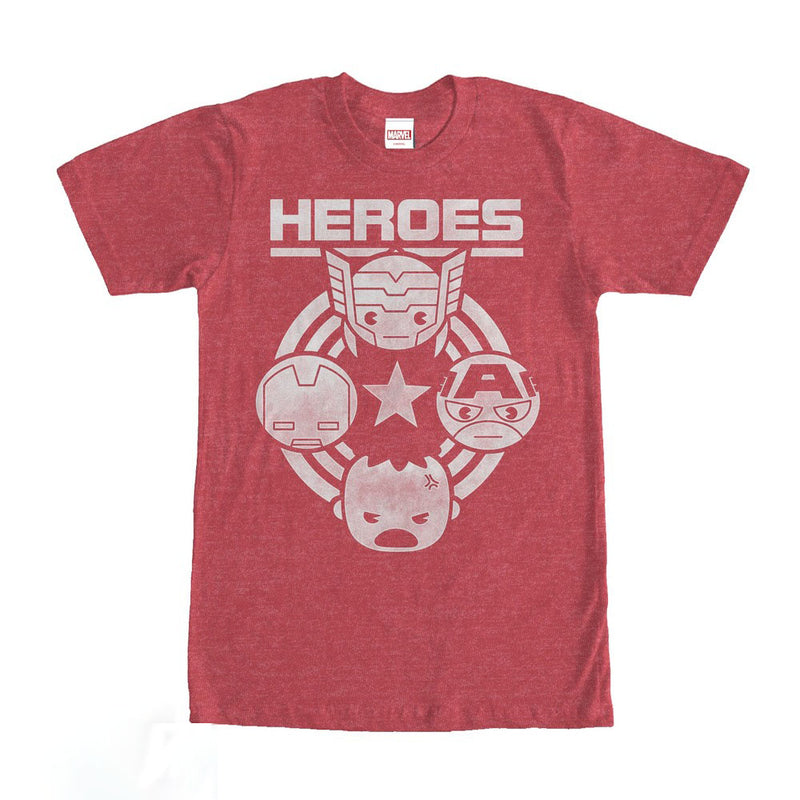 Marvel Kawaii Avengers Heroes Mens Graphic T Shirt