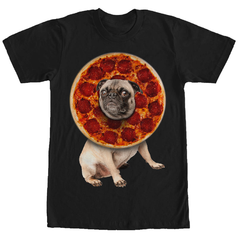 Lost Gods Pepperoni Pizza Pug Mens Graphic T Shirt