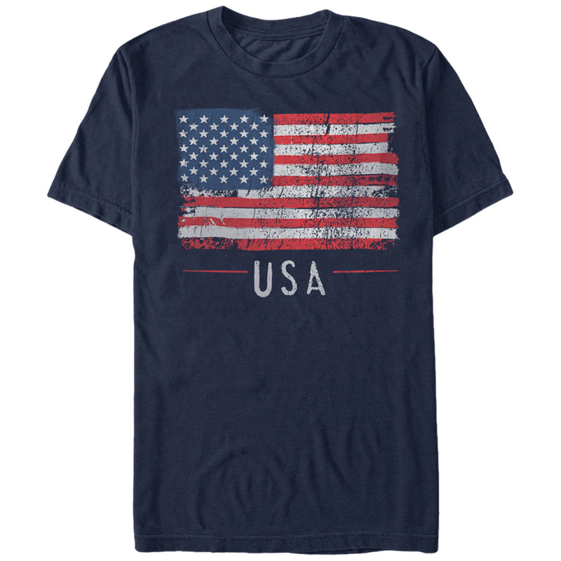 Lost Gods Men's Fourth of July  USA Flag Freedom  T-Shirt  Navy Blue  M