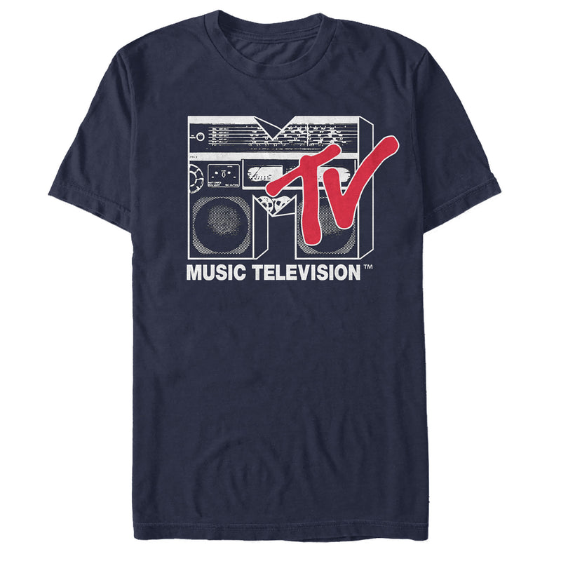 MTV Boombox Logo Mens Graphic T Shirt