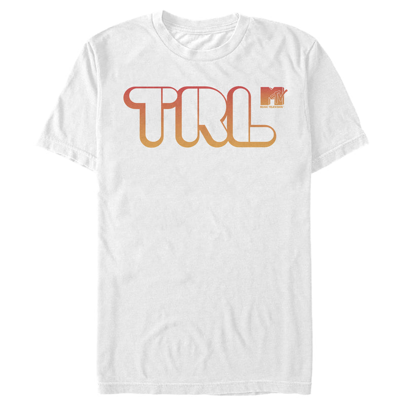 MTV TRL Bubble Letters Mens Graphic T Shirt