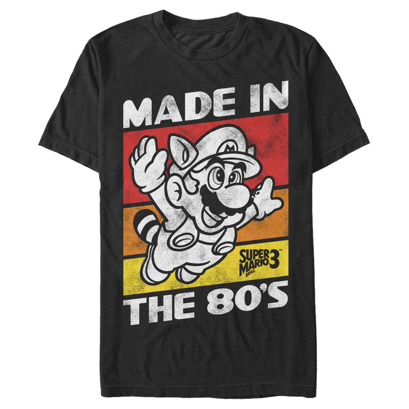 Nintendo Raccoon Mario Made in the 80's Mens Graphic T Shirt