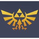 Nintendo Boy's Legend of Zelda Triforce Fade  T-Shirt  Navy Blue Heather