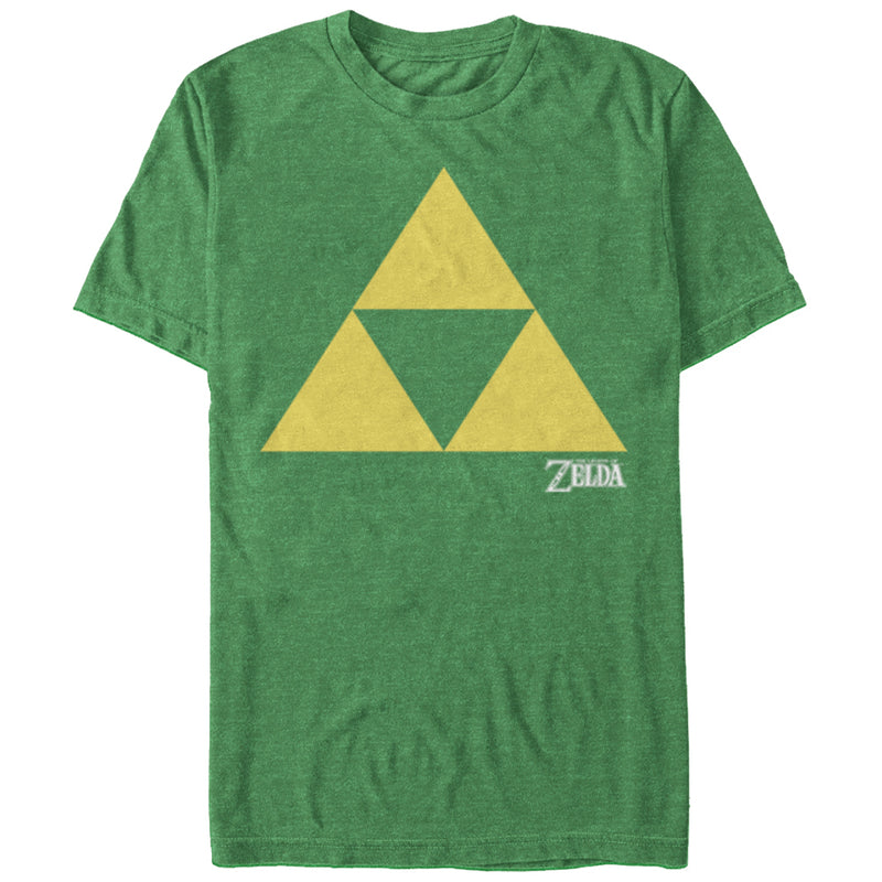 Nintendo Men's Legend of Zelda Classic Triforce  T-Shirt  Kelly Heather  M