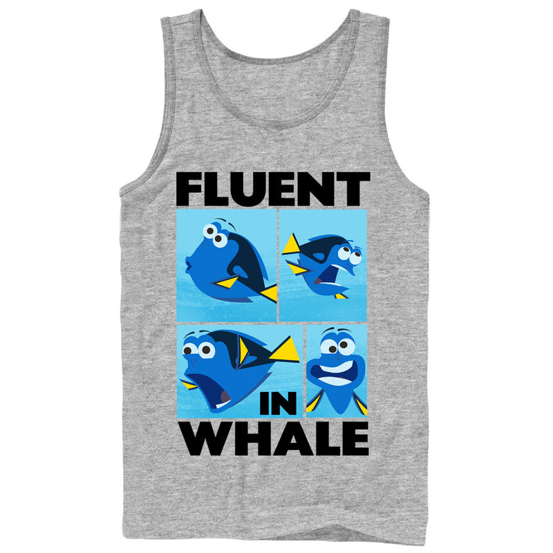 Finding Dory Men's Fluent in Whale  Tank Top  Athletic Heather  2XL