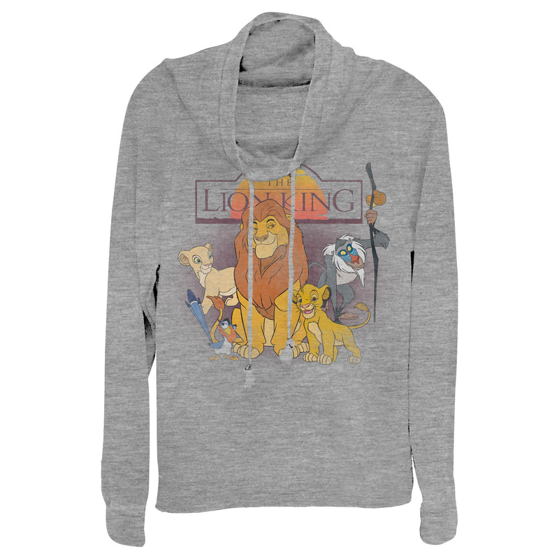 Lion King Royal Family Juniors Graphic Cowl Neck Sweatshirt