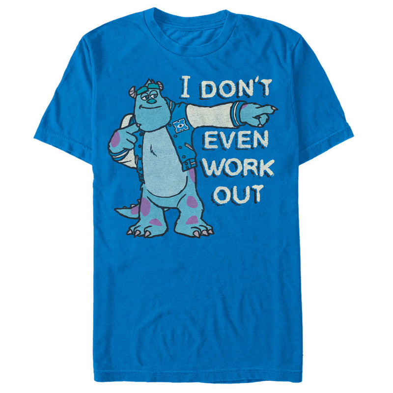 Monsters Inc Men's Sulley I Don't Even Work Out  T-Shirt  Royal Blue  S