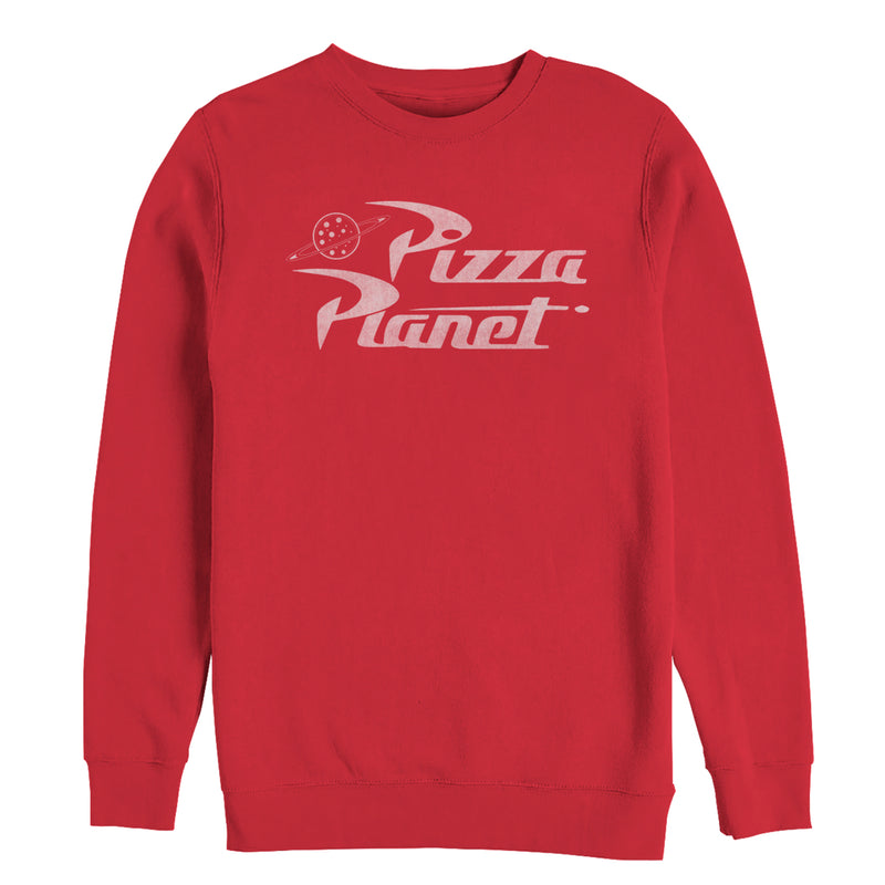 Toy Story Men's Pizza Planet Logo  Sweatshirt  Red  L