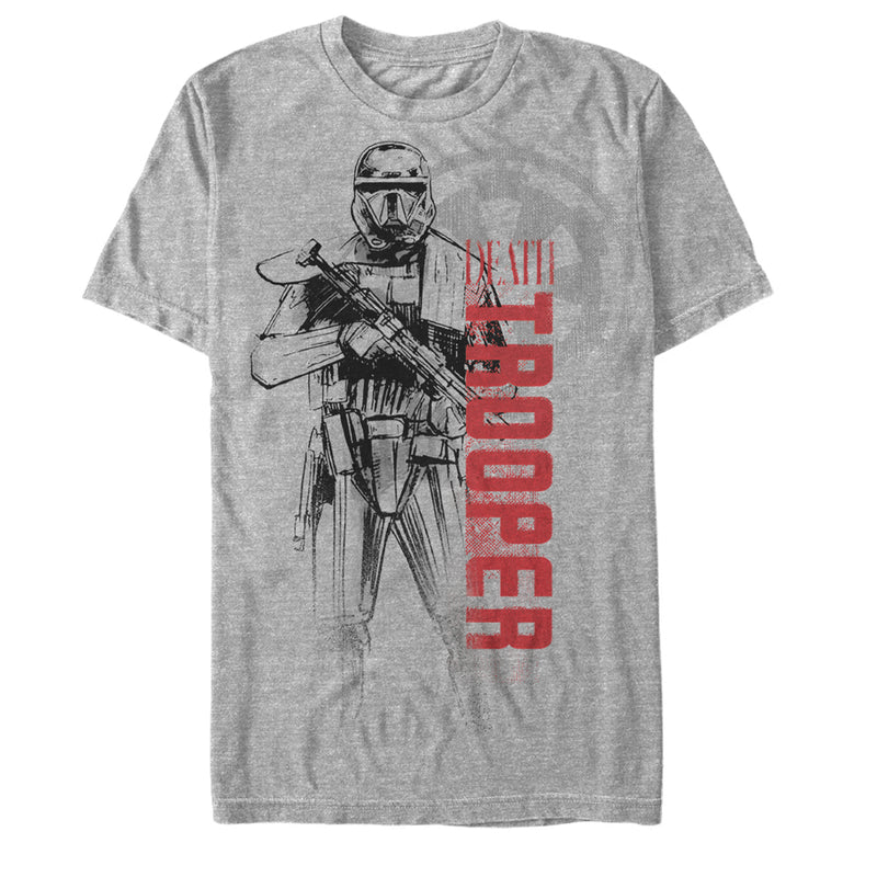 Star Wars Rogue One Men's Death Trooper Outline  T-Shirt  Athletic Heather  S