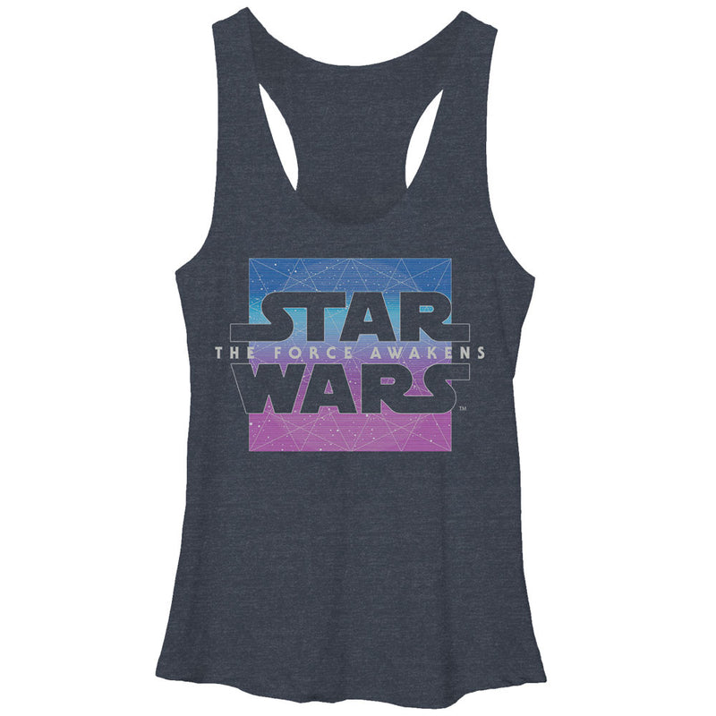 Star Wars Episode VII Constellation Logo Womens Graphic Racerback Tank
