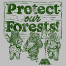 Star Wars Women's Ewok Protect Our Forests  Scoop Neck  Athletic Heather
