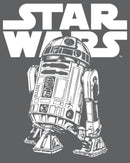 Star Wars Men's R2-D2 Classic Pose  T-Shirt  Charcoal Heather