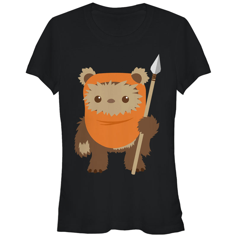 Star Wars Junior's Wicket Ewok Cartoon  T-Shirt  Black  M