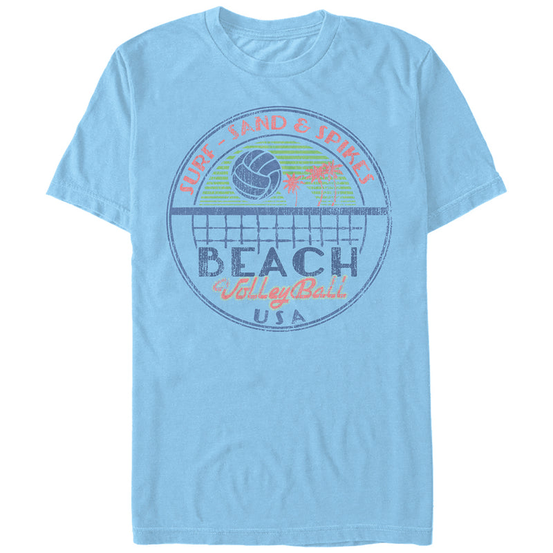 Lost Gods Beach Volleyball USA Mens Graphic T Shirt