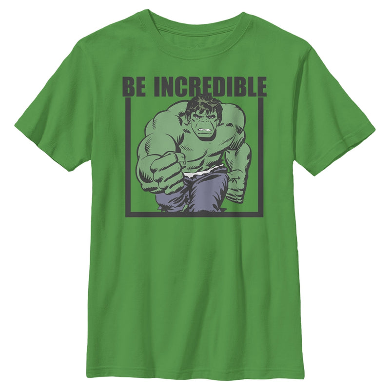 Marvel Hulk Be Incredible - Boys Graphic T Shirt
